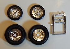 Vintage Style Funny Car Racing Wheels, Drag Slicks and Tires ~ 1/25 scale  (JJF)