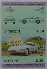 1970 FERRARI 365 GTB4 DAYTONA Car Stamps (Leaders of the World / Auto 100)