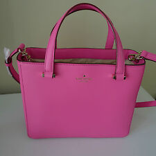 KATE SPADE LEATHER Pink 2 Park Avenue HANDBAG New York BOUGAINVILLEA Sweetheart