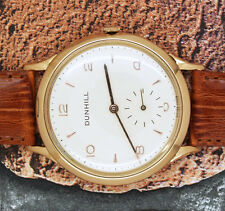 Grandi ottime condizioni Gents solido 18ct GOLD DUNHILL DRESS Watch.