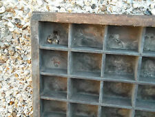 Vintage PRINTERS TRAY letterpress drawer. Same size compartments (d1)