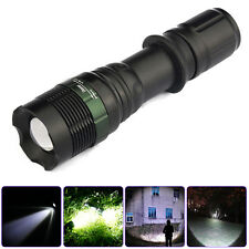 CREE T6 LED 5000LM Zoomable XM-L Flashlight Rechargeable Clip Torch Light Lamp
