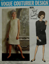 Vtg 60s Vogue Couturier Design Sybil Connolly Chic Dress 1876 Bust 32.5 Size 10