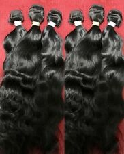 "Wavy Virgin Temple Indian Hair Extensions 18"" Natural Wavy"