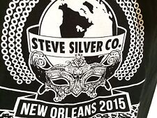 T-SHIRT M 100%Cotton BLACK -STEVE SILVER CO. NEW ORLEANS  BEAUTIFUL FURNITURE c