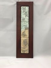 Medicine Bluff Triple Turtle Art Tile Arts & Crafts Mission Style Oak Park Frame