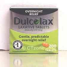 200 Dulcolax Laxative Tablets 5mg Bisacodyl USP Constipation Relief  200 Tablets