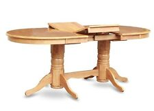 ONE OVAL DINETTE KITCHEN DINING TABLE 40x76 WITHOUT CHAIR IN LIGHT OAK FINISH
