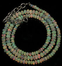"""33 Crts 1 Strands 2 to 5 mm 16"""" Beads necklace  Ethiopian Welo Opal  AA+++1323"""