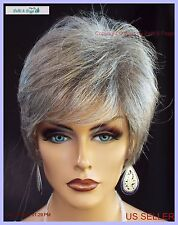 Sythetic Short Hair Wig for Women  COLOR GREY #51 SALT & PEPPER  CUTE STYLE 1139