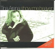 TINA ARENA Show me Heaven RADIO Trk & MESSAGE LIVE Europe CD single USA Seller