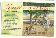 Sand in my Shoes Poem Florida FL Postcard