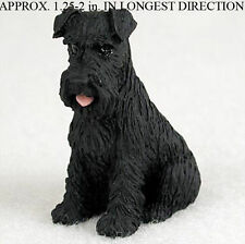 Schnauzer Mini Resin Hand Painted Dog Figurine Black Uncrop