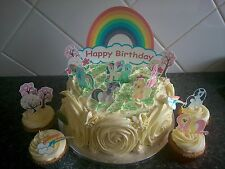 My Little Pony Scene Wafer Edible Topper Cake Decoration Set Personalised
