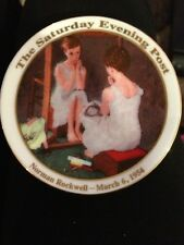 "Norman Rockwell ""Girl at the Mirror"" Saturday Evening Post Mini Plate"
