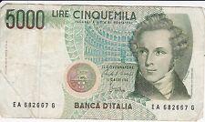BILLET 5000 LIRE . BANCA ITALIA.  04/01/  1985.  TRES TRES BON ETAT.