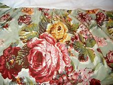 Rare Ralph Lauren Cynthia Coordinate Floral Roses Green Pink King Bed Skirt