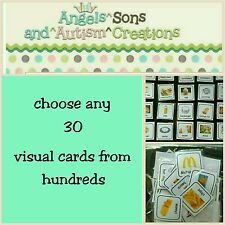 YOU CHOOSE 30 VISUAL CARDS - AUTISM / NON VERBAL / PECS / ADHD / VISUAL LEARNER