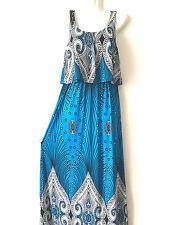 women long maxi summer beach hawaiian Boho evening party sundress dress NEW #22