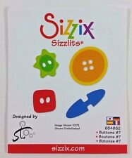 Sizzix Sizzlits Dies BUTTONS #7 Works With Sidekick, BIGkick, and Big Shot