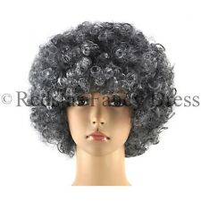 GRANNY AFRO WIG GREY OLD LADY FANCY DRESS GRANDMA SECRETARY PERM