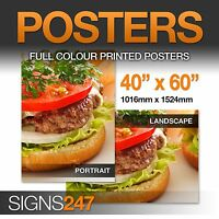 40'' x 60'' Full Colour GLOSS Poster Printing Service - A3 A2 A1 A0 available