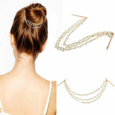 US-Women Style Metal Rhinestone Head Chain Jewelry Headband Head Piece Hair band