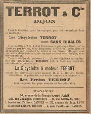 Y8145 Bicyclette à moteur TERROT - Pubblicità d'epoca - 1906 Old advertising