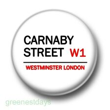 Carnaby Street 1 Inch / 25mm Pin Button Badge London Shopping Trendy Hipster Fun