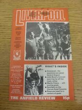 22/04/1978 Liverpool v Norwich City  (Light Fold, Marked On Cover).  Thanks for