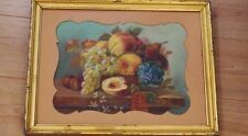 Dessin Nature Morte Fruits, Pastel XIX ème