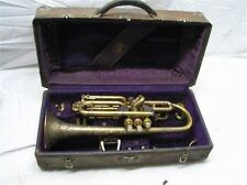 Antique Frank Holton Chicago Coronet Trumpet 1911 Patent 1914 Serial Needs Love