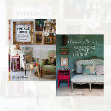 Vintage Home 2 Books Collection Set Annie Sloan's Room Recipes for Style , New