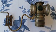 1890 Carriage Lamp, Brass Antique Lantern Victorian Decor, Vintage Display Prop