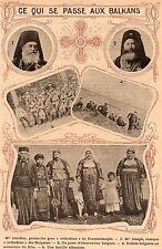 IMAGE 1912 PRINT BALKAN BULGARE TURQUIE TUKIYE MGR JOACHIM JOSEPH SOLDAT BULGARE