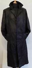 Men's Long Leather Coat Bomber Flying Jacket Pilot Aviator Luftwaffe Mafia KGB