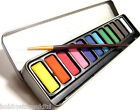Watercolour Paint Set Metal Tin 12 Assorted Colours Free Brush Water Colour Set