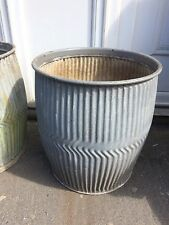 Genuine Vintage Galvanised Dolly / Peggy Wash  Tub Garden Planter