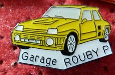 RARE PIN'S VOITURE RENAULT 5 R5 TURBO GARAGE ROUBY P