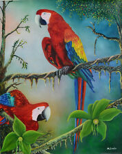 Macaws  Giclee Fine art reproduction by the artist Miguel Sorto