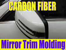 3D Black CARBON FIBER Side Mirror TRIM MOLDING DIY KIT -cfford02