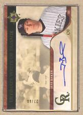 Jeff Baker WP-BH 2007 UD Ultimate Collection Write of Passage Auto 22/60