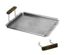 Schmidt Bros Grab Grill flat tray BBQ Outdoor Cooking Fish Vegetables 843 Smoke