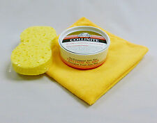 "Collinite No.476S Super Double Coat Auto Wax ""Kit"" FREE Applicator Sponge &  M/F"