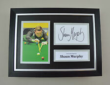 Shaun Murphy Signed A4 Photo Framed Snooker Memorabilia Autograph Display + COA