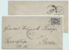 LATVIA under Russia 1879 COVER Goldingen ( KULDIGA ) LIBAVA GERMANY BERLIN
