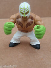 WWE Rumblers REY MYSTERIO White Outfit Green Fluo Gloves LOOSE