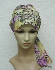 Chemo cap, tichel, head snood, surgical cap, chemo head wear, chemo bonnet