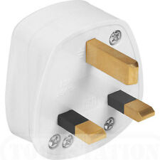 NEW white 13 AMP household fused plug BS1363