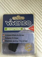 Vivanco 04271 Y per cuffie Adattatore 2x3.5mm